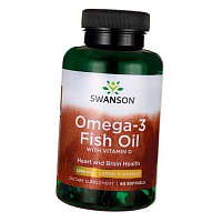 Omega-3 Fish Oil with Vitamin D от магазина Foods-Body.ua