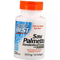 Со Пальметто, Saw Palmetto Standardized Extract 320, Doctor's Best