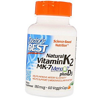 Natural Vitamin K2 MK7 MenaQ7 plus D3
