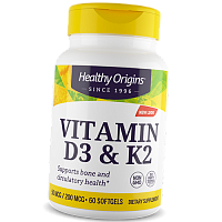 Витамин Д3 К2, Vitamin D3 & Vitamin K2, Healthy Origins