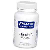 Витамин А, Vitamin A 10000, Pure Encapsulations