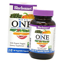 Мультивитамины для мужчин, Men's One Whole Food-Based Multiple, Bluebonnet Nutrition