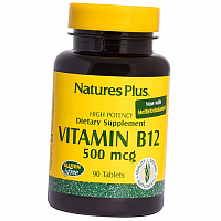 Витамин В12, Метилкобаламин, Vitamin B12 500, Nature's Plus